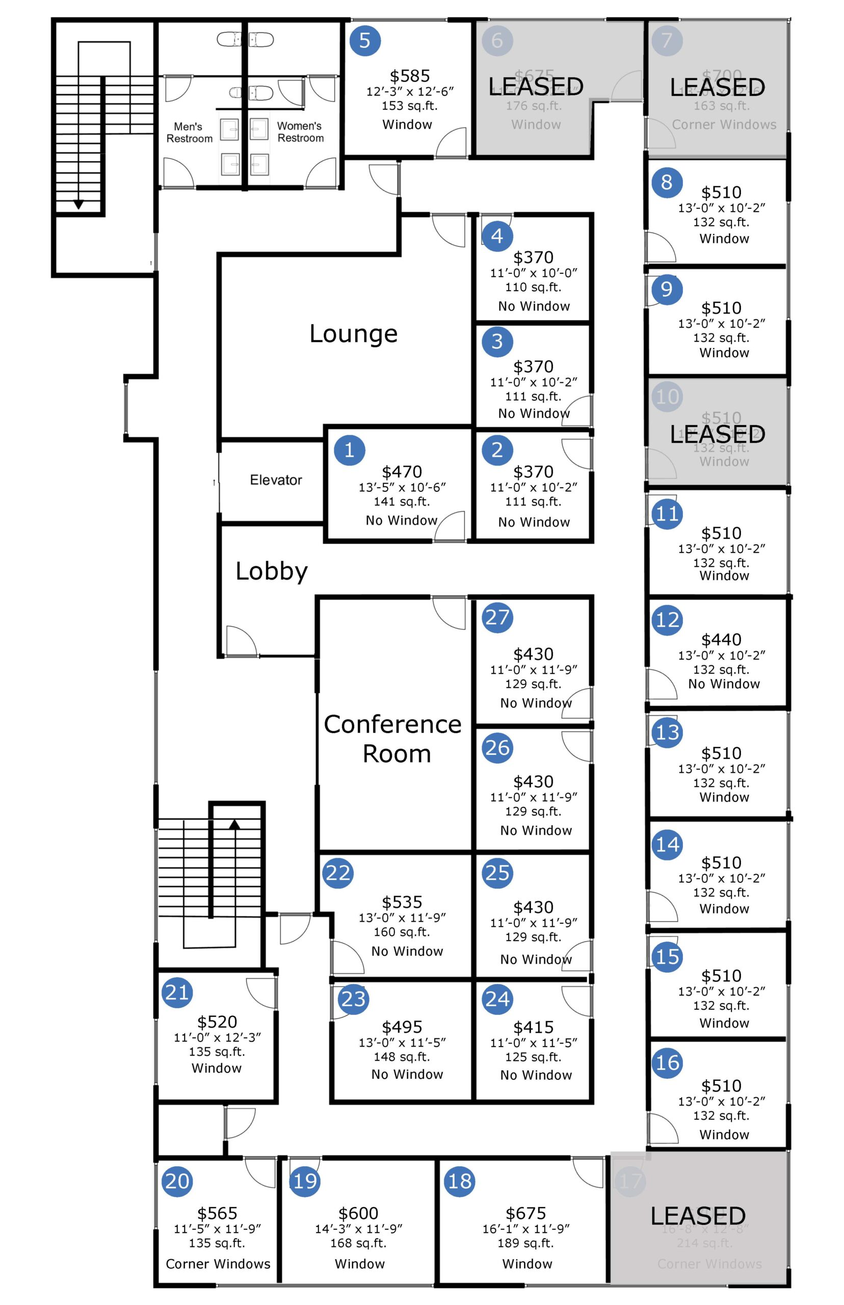 CES Floor Plan with size and price-2021-10-04